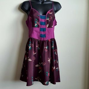 UO Ecote Adjustable Sleeveless Floral Dress